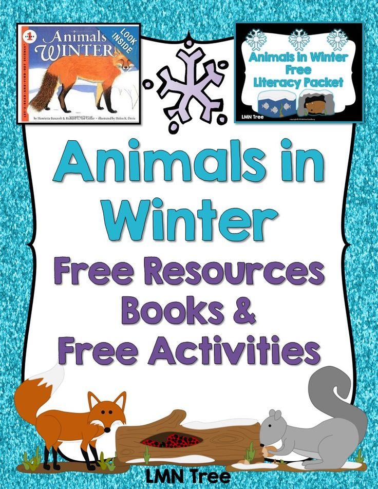 LMN Tree Animals in Winter Free Resources, Free