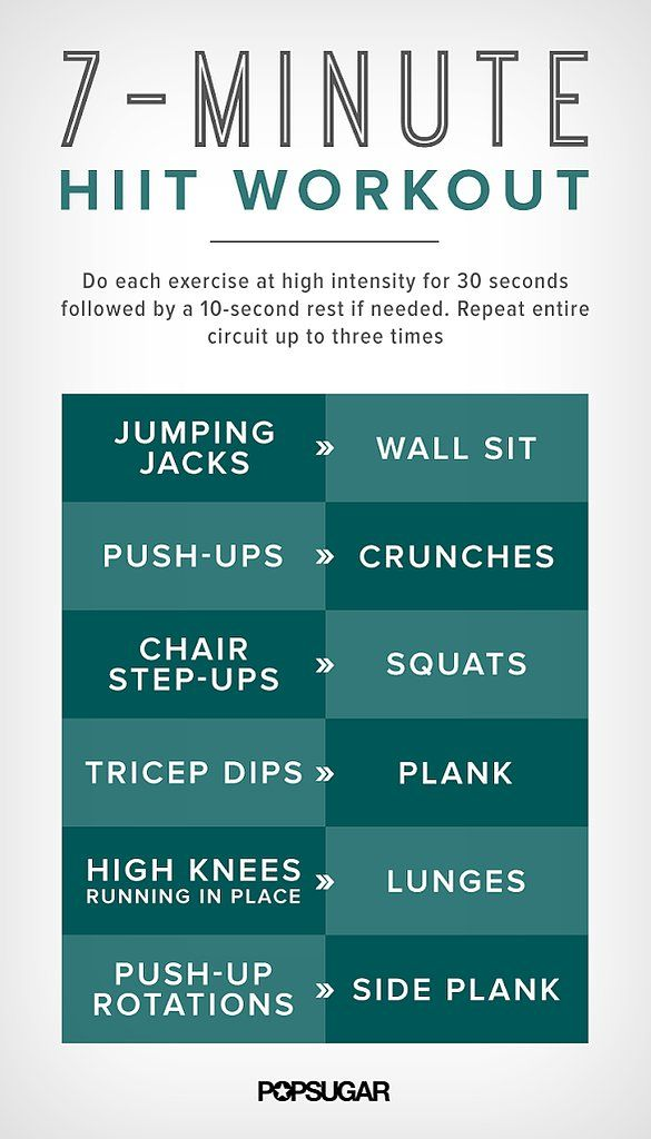7-minutes for a workout —