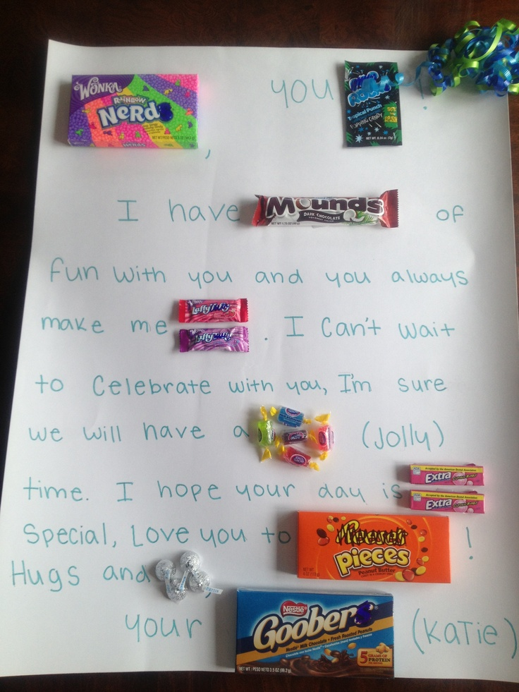 Candy card for my best friend DIY and crafts Pinterest