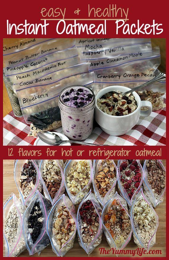 DIY Healthy Instant Oatmeal Packets I love oatmeal in the winter. GREAT gran 'n go breakfast….