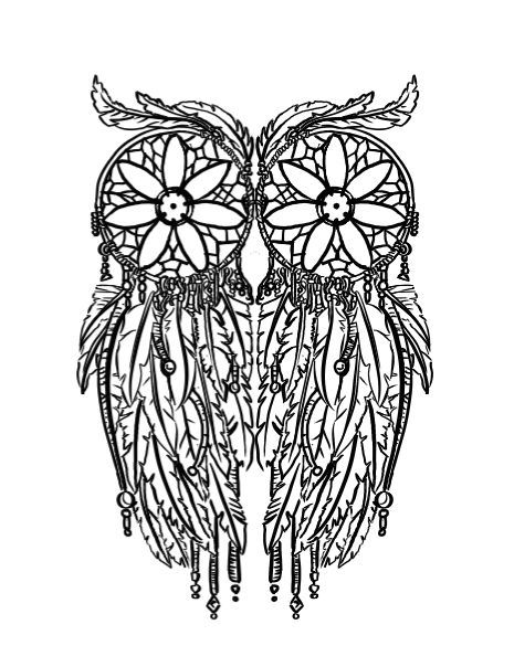 hard owl coloring page feather owl coloring page