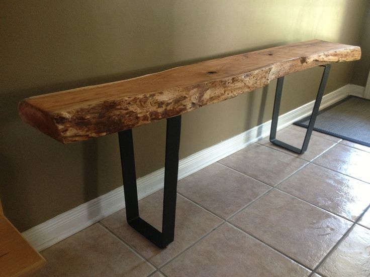 Live Edge Table With Hairpin Legs, Live Edge Coffee Table
