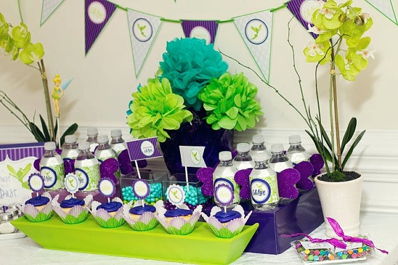 NeverlandTinkerbell Birthday Party Color Scheme Purple