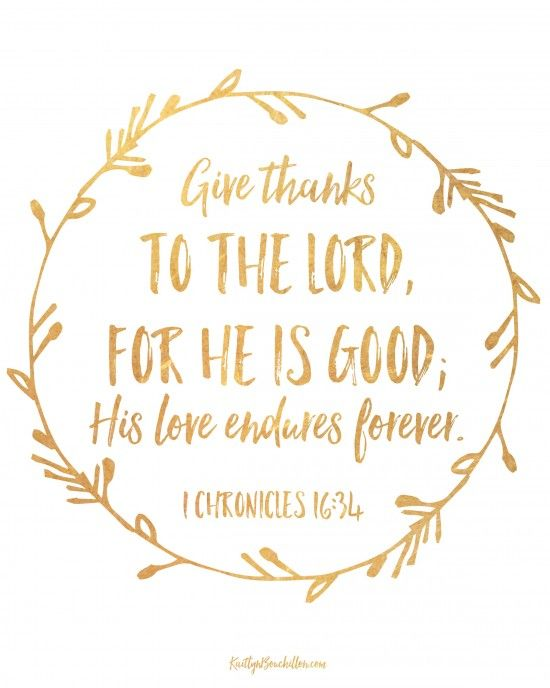 Yes Lord Good And His Love Endures