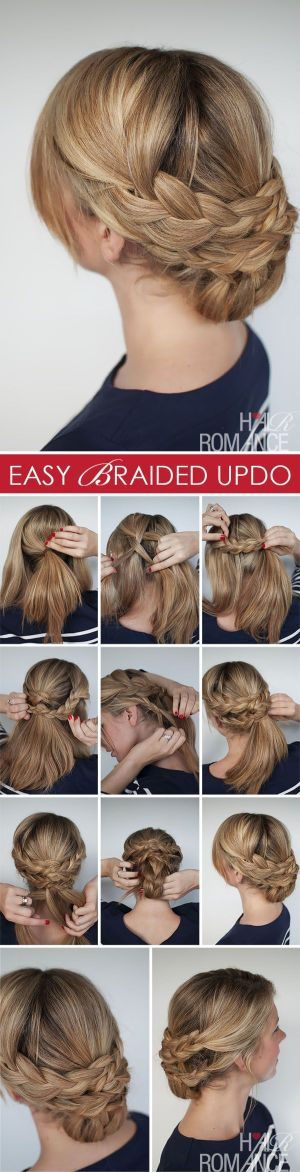 Hairstyle how to – Hair Romance easy braided upstyle tutorial