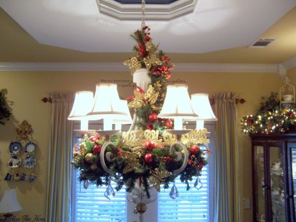 Christmas Chandelier Garland In And Around The
