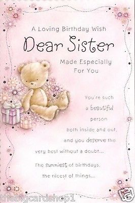 16 Best Images About Sister Birthday Cards On Pinterest 30th Birthday Happy Birthday Sister