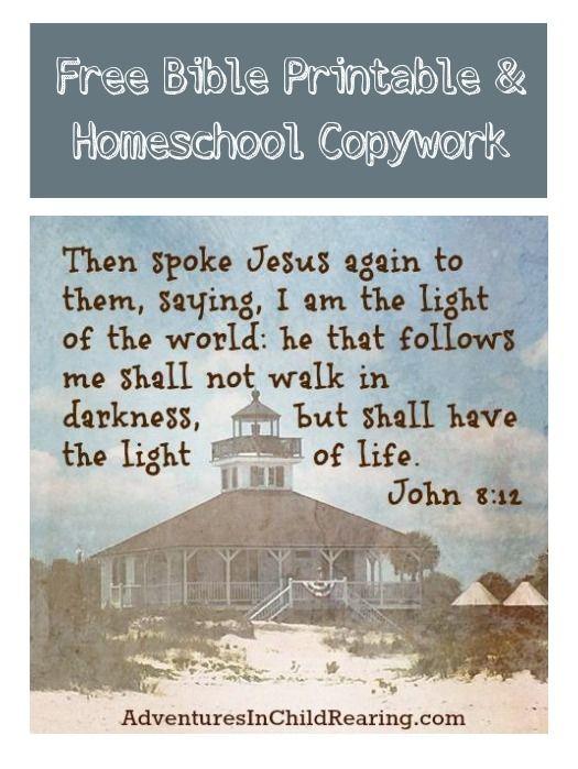 Free Scripture Copywork Sheets Print And Cursive