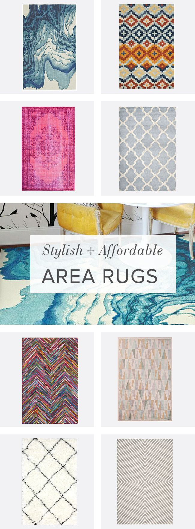 It's official: you're bored with your floor. Break your space up with a blast of color or bold gra