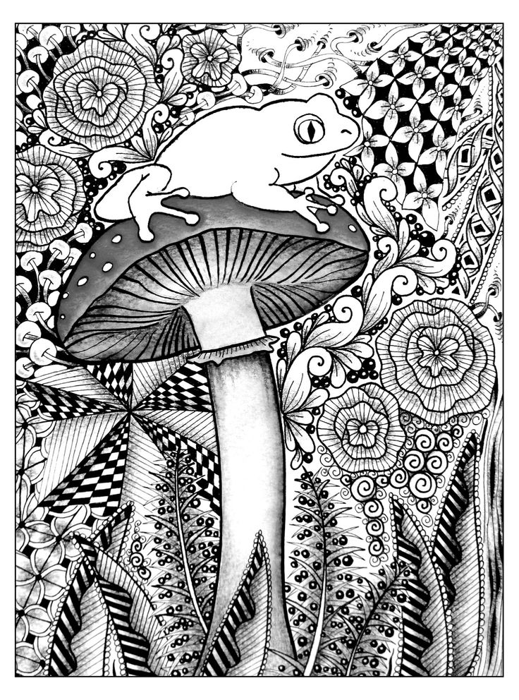 Free coloring page coloringdifficultfrog. A cute frog on