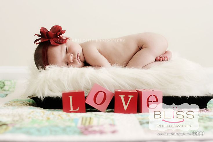 newborn…perfect for valentines day! ESP since my baby was born on valentines!