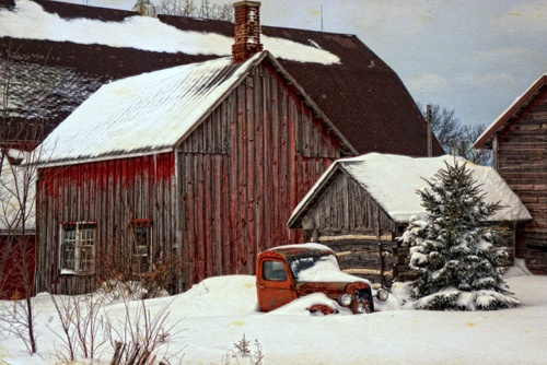 555 Best Images About Country Christmas Scenes On Pinterest