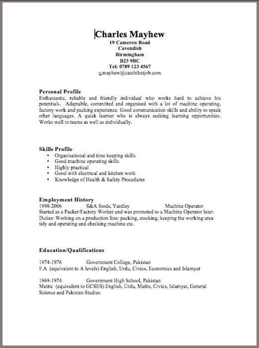 free cv templates open our cv examples up and change the details