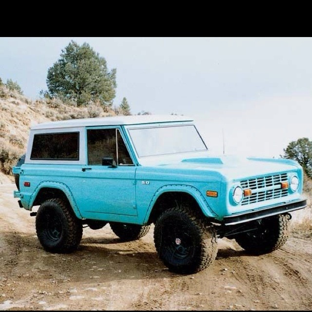 Baby blue Bronco. For The Love Of Ford Pinterest