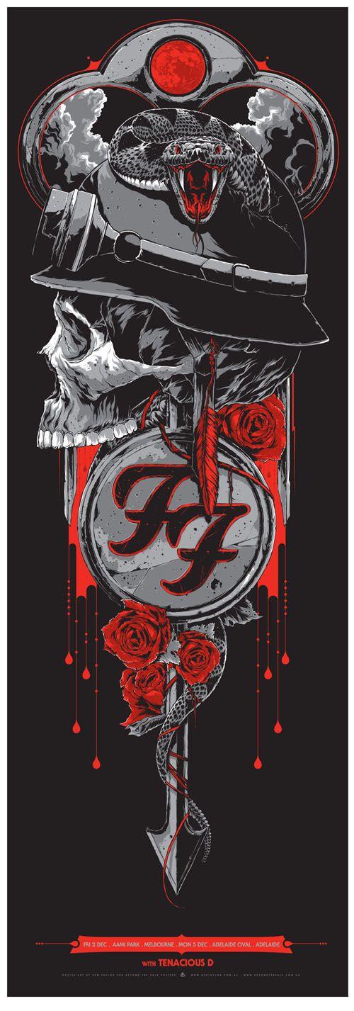Foo Fighters – gig poster – Ken Taylor