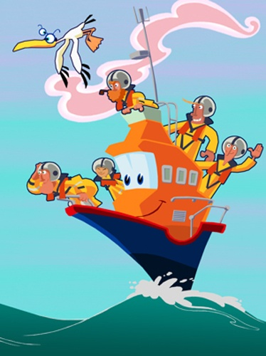 Lifeboat Luke Straandlooper Animation All Rights