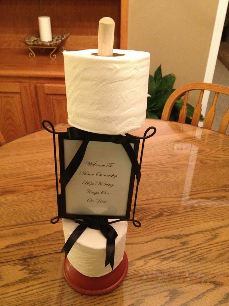 Saw it, Pinned it, Made it. Plunger Housewarming Gift