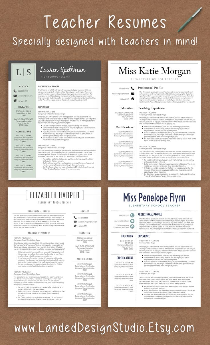 1000 ideas about teacher resumes on pinterest school teacher