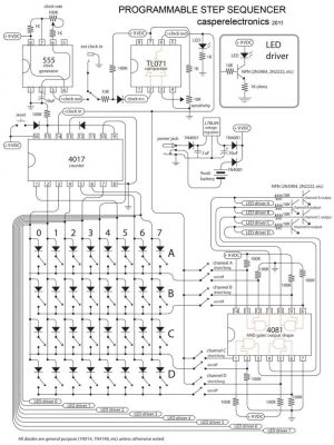 Programmable step sequencer | Electronic circuit | Pinterest