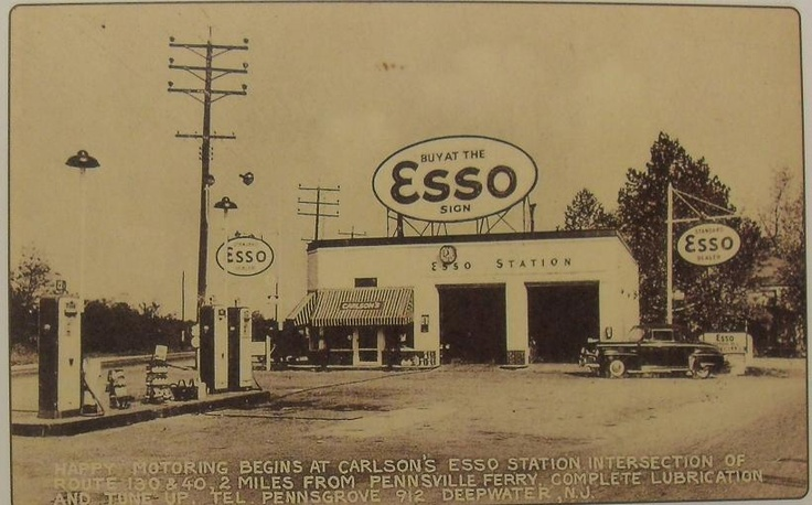 1940's esso gas station New Jersey USA Ahh, the good