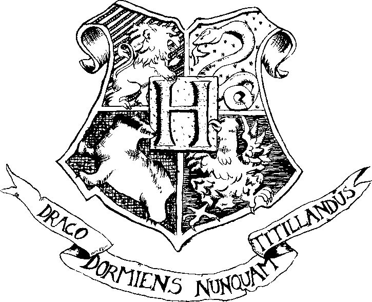 Hogwarts Crest clipart graphicin GIMP photo editor, use