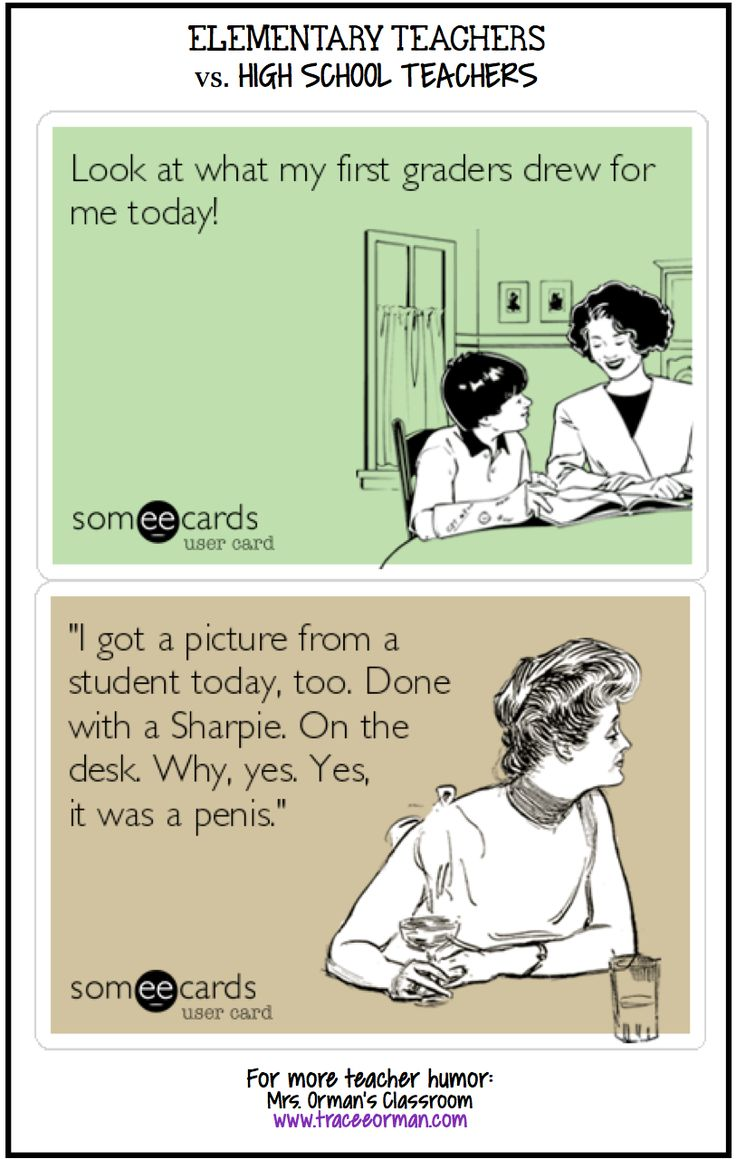 Mrs. Orman's Classroom Elementary vs. High School