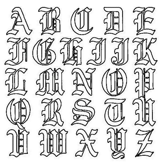 Popular Tattoo Design Tattoo Lettering Old English