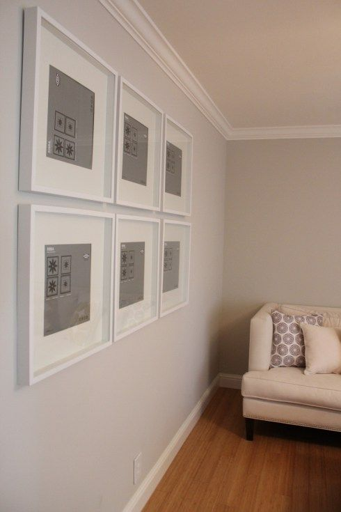 Gallery Wall Using Ikea Ribba Frames Photography