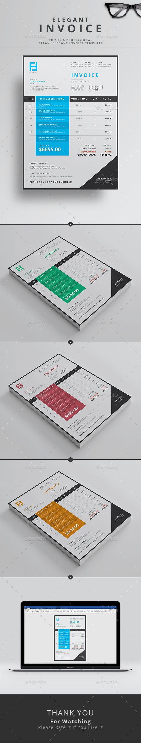 Proposal Invoice Template     hardhost info 17 best ideas about invoice template on pinterest   invoice design  Invoice  templates