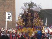 Ntro. Padre Jesús del Prendimiento saliendo de la parroquia de Santa Agustín, momentazo de esta Semana Santa de Linares 2015