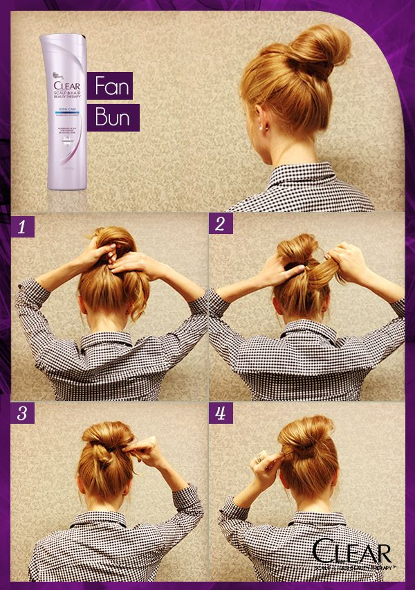 This Fan Bun Hair How To Will Keep You Feeling Cool All