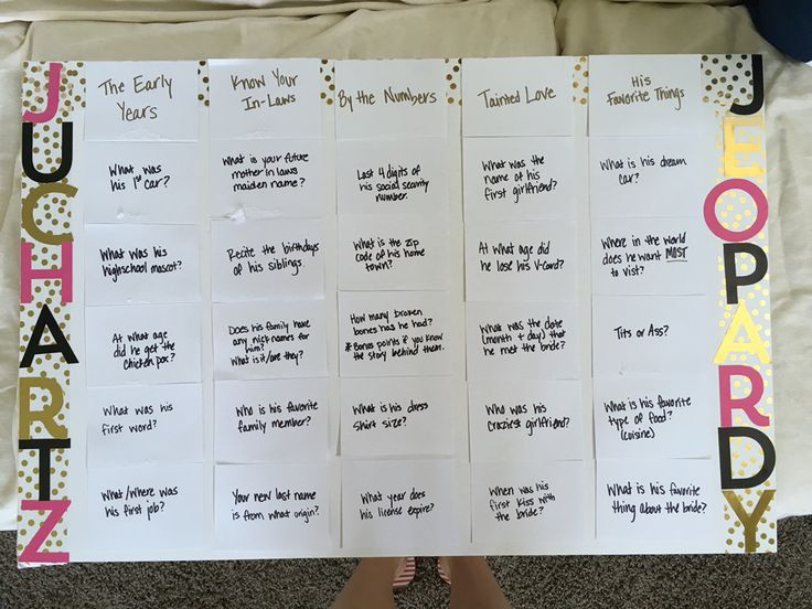 Jeopardy And Answers Baby Questions Game Shower