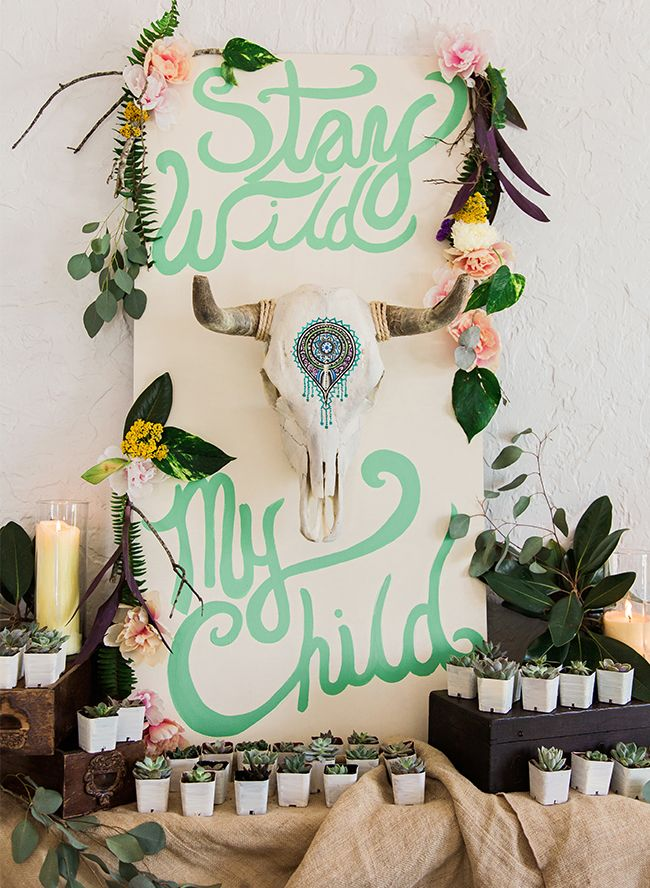 What better way to shower a beautiful, stand up paddle boarding, barefoot dancing, yogi Mama to be than with a Boho Baby Shower!