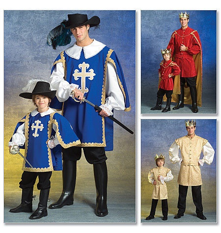 Sewing Pattern McCalls 5214 Mens Mens' Musketeer and