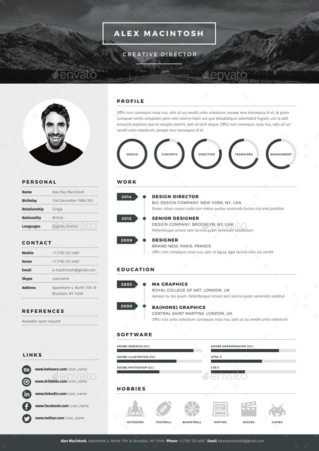 create resume with photoshop professional by thealika on