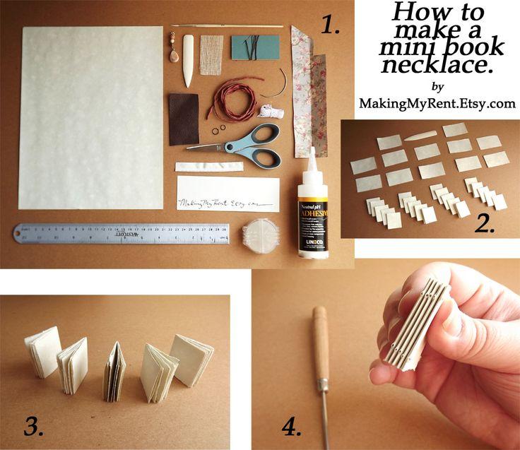 36 Best Images About Miniature Book Tutorials On Pinterest