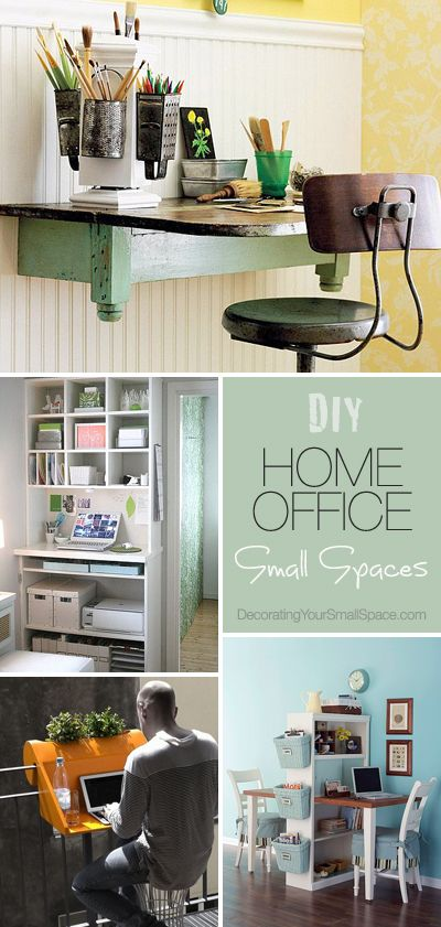 DIY Home Office (for small spaces)  Ideas & Tutorials!