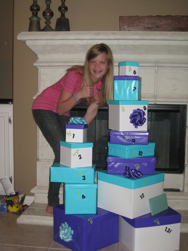 13 gifts for my girls 13th birthday nifty idea