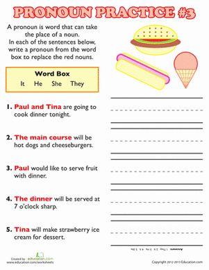 Pronoun Practice 3