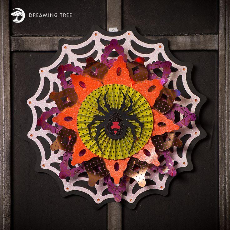 Widow's Web Wreath SVG Halloween Pinterest Wreaths