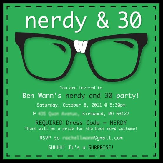 28 Best Images About Nerdy 30th Birthday On Pinterest