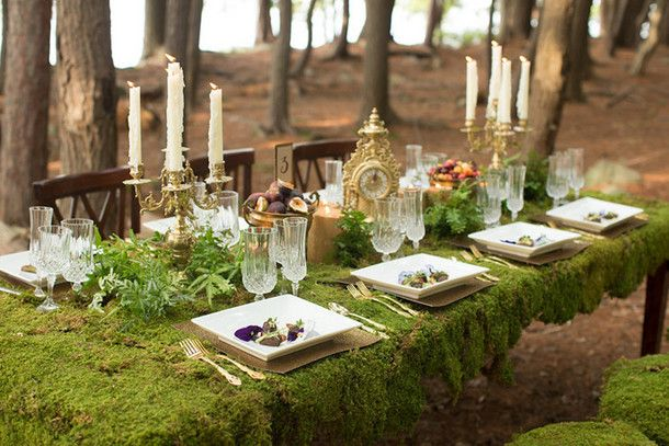 Gold And Green Glamorous Woodland Wedding Complete With A