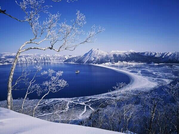 Lake MashuHokkaido During Winter Beautiful Scenery