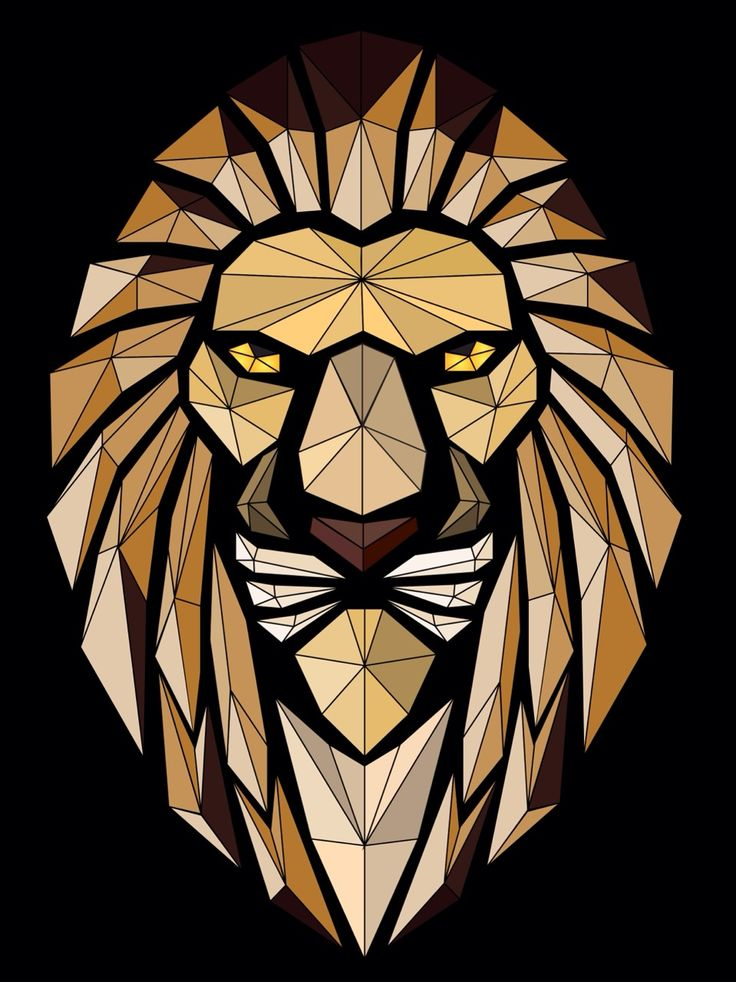 Abstract lion vector artvectorart course Learn how to