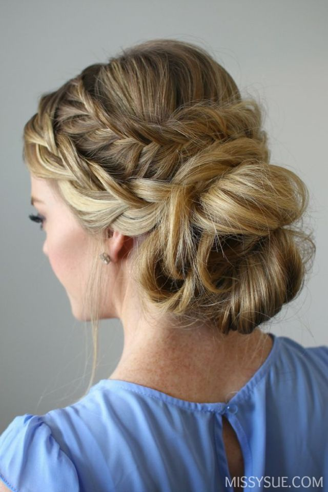 1000 ideas about Fishtail Updo  on Pinterest Messy