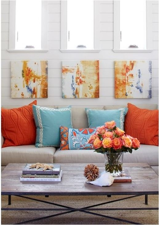 Decorating with... Orange {Inspirational Fall Decor}...love this color combo,must do somewhere in or around the house!!: