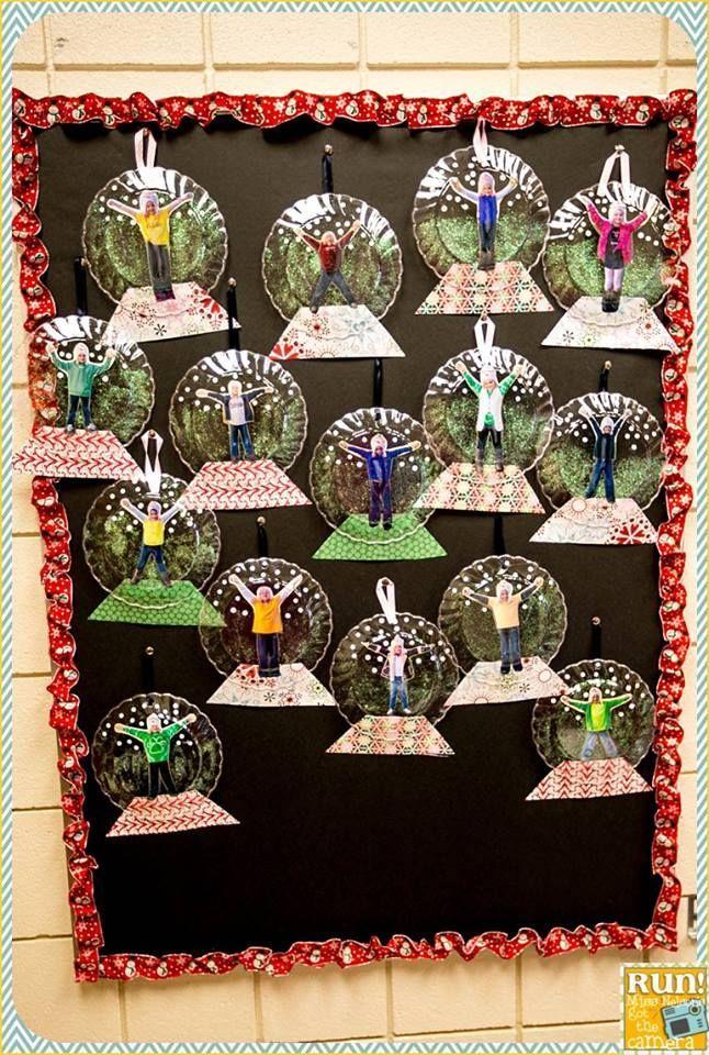 Snow globe craft Bulletin Boards & Doors Pinterest