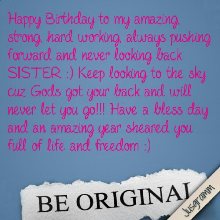 Happy Birthday Sister !!! L Pinterest Birthdays