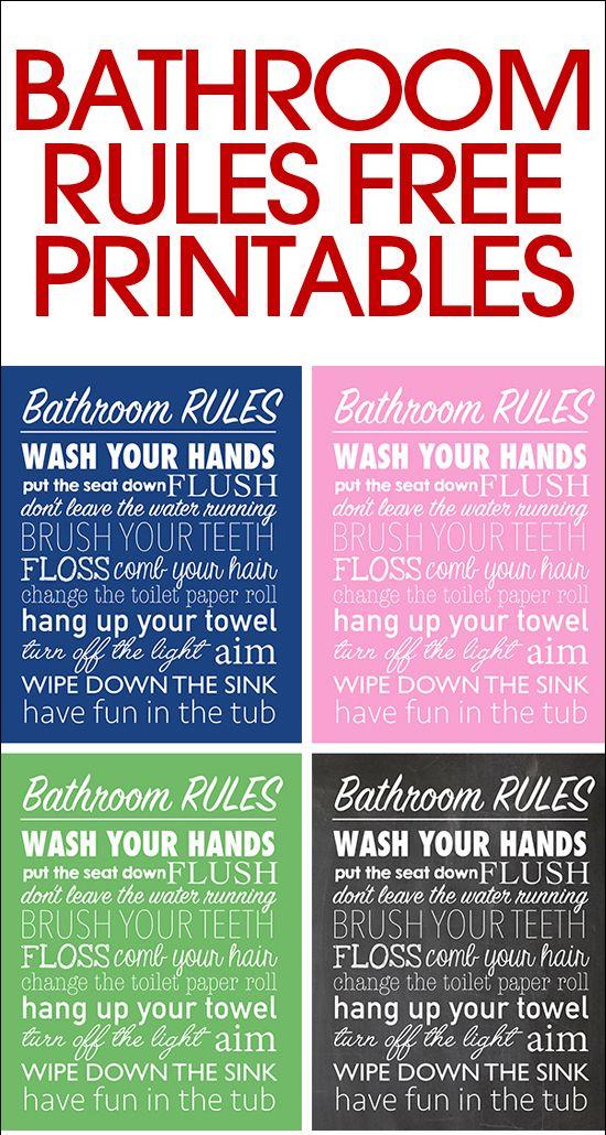 Admirable Bathroom Rules 1000 Ideas About Bathroom Rules On Pinterest Interior Design Ideas Clesiryabchikinfo