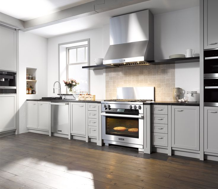 Miele 36 Inch Stainless Steel Range With Built In Grill Miele Stainless Steel Range Hood